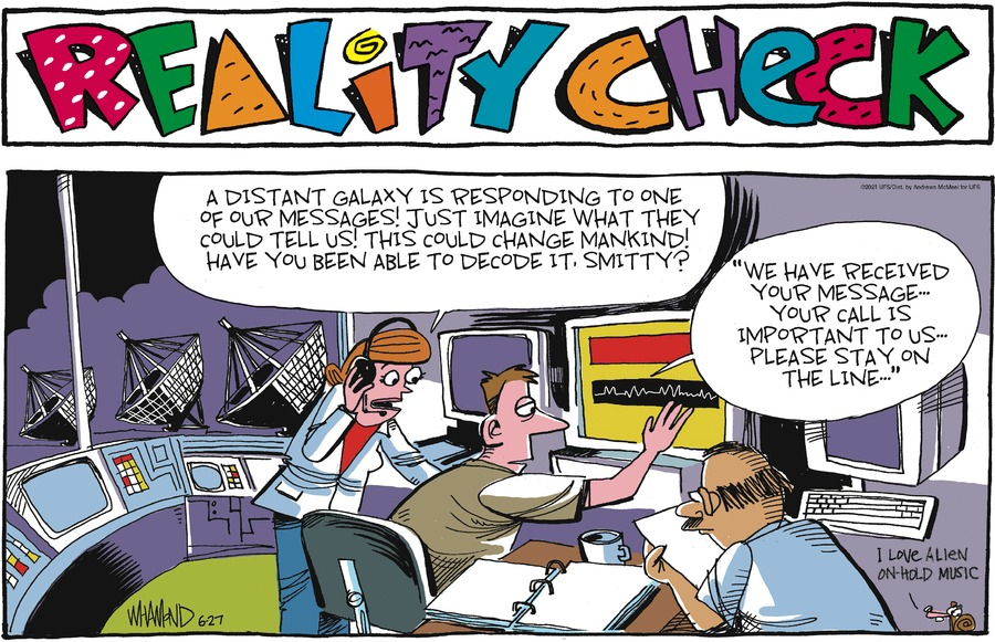 Reality Check Comic Strip for June 27, 2021