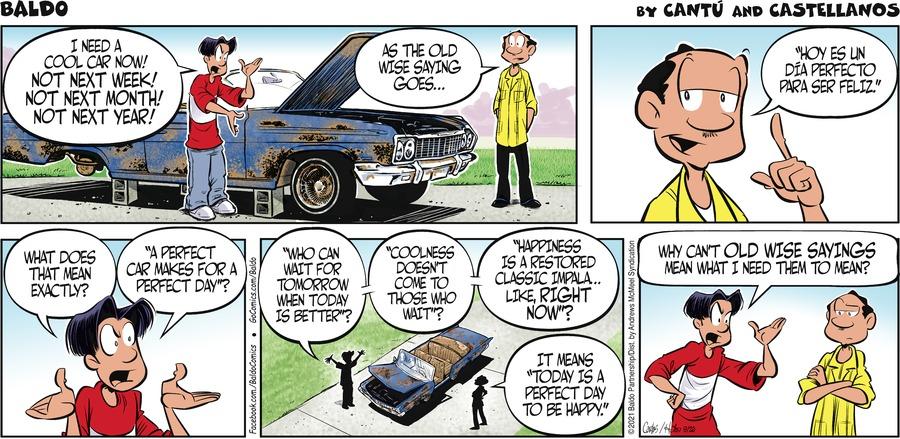 Baldo Comic Strip for September 26, 2021