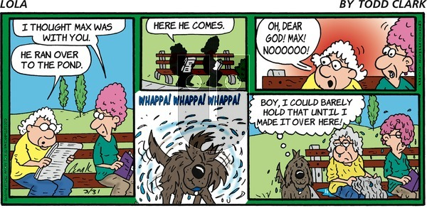 Lola on Sunday March 31, 2019 Comic Strip