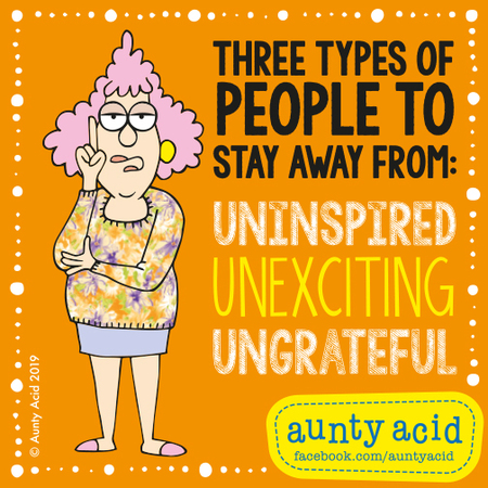 Aunty Acid by Ged Backland for May 09, 2019