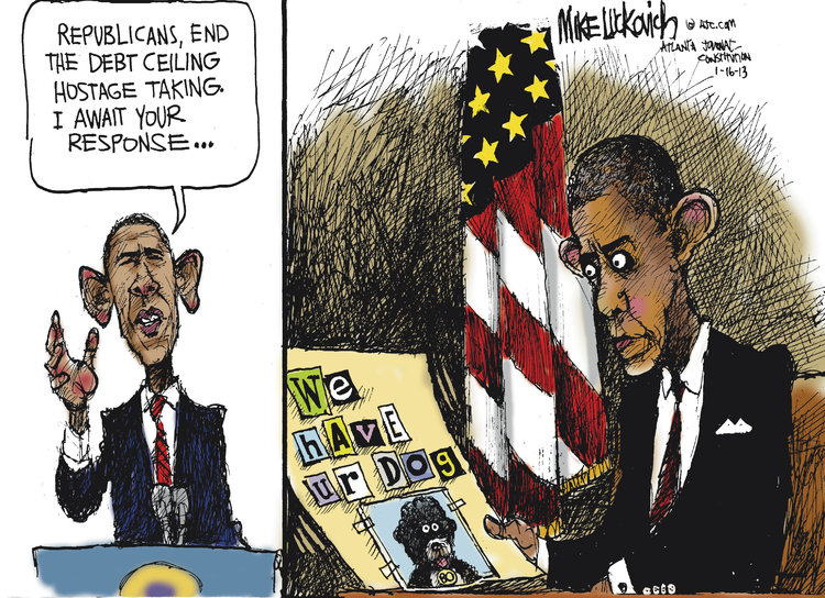 Mike Luckovich for Jan 16, 2013 Comic Strip
