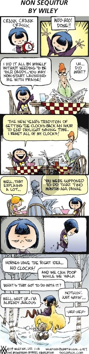 Non Sequitur on Sunday January 13, 2019 Comic Strip