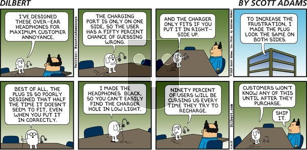 Dilbert on Sunday April 26, 2020 Comic Strip