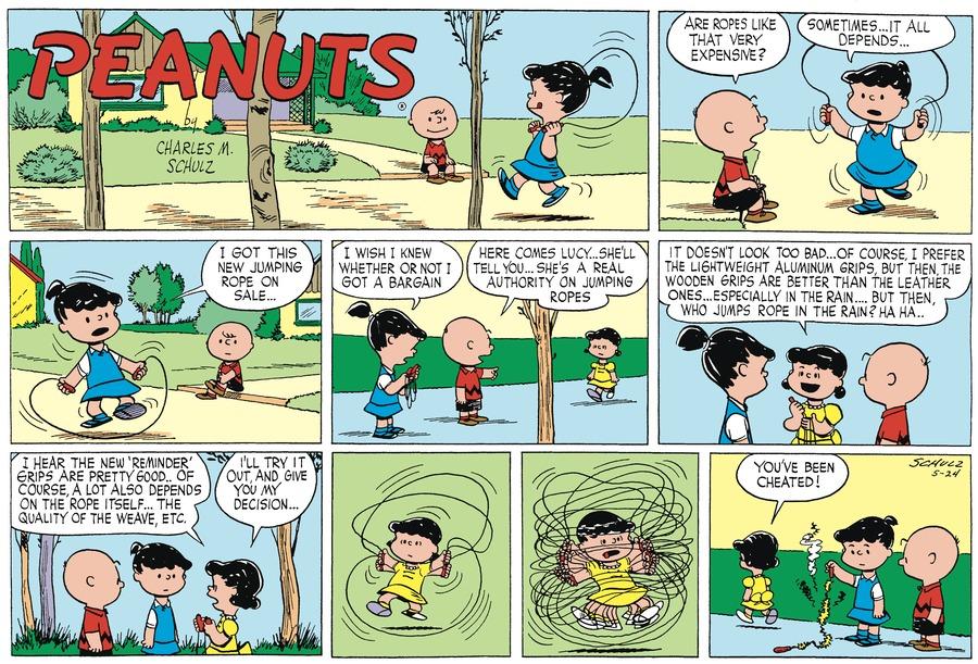 Peanuts Begins Comic Strip for May 24, 1953