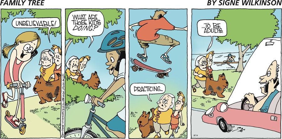 Family Tree Comic Strip for August 18, 2019