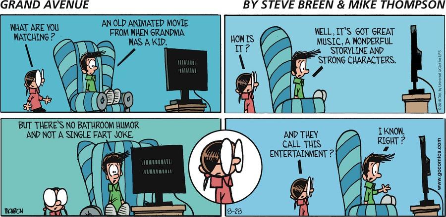 Grand Avenue for Aug 28, 2016 Comic Strip