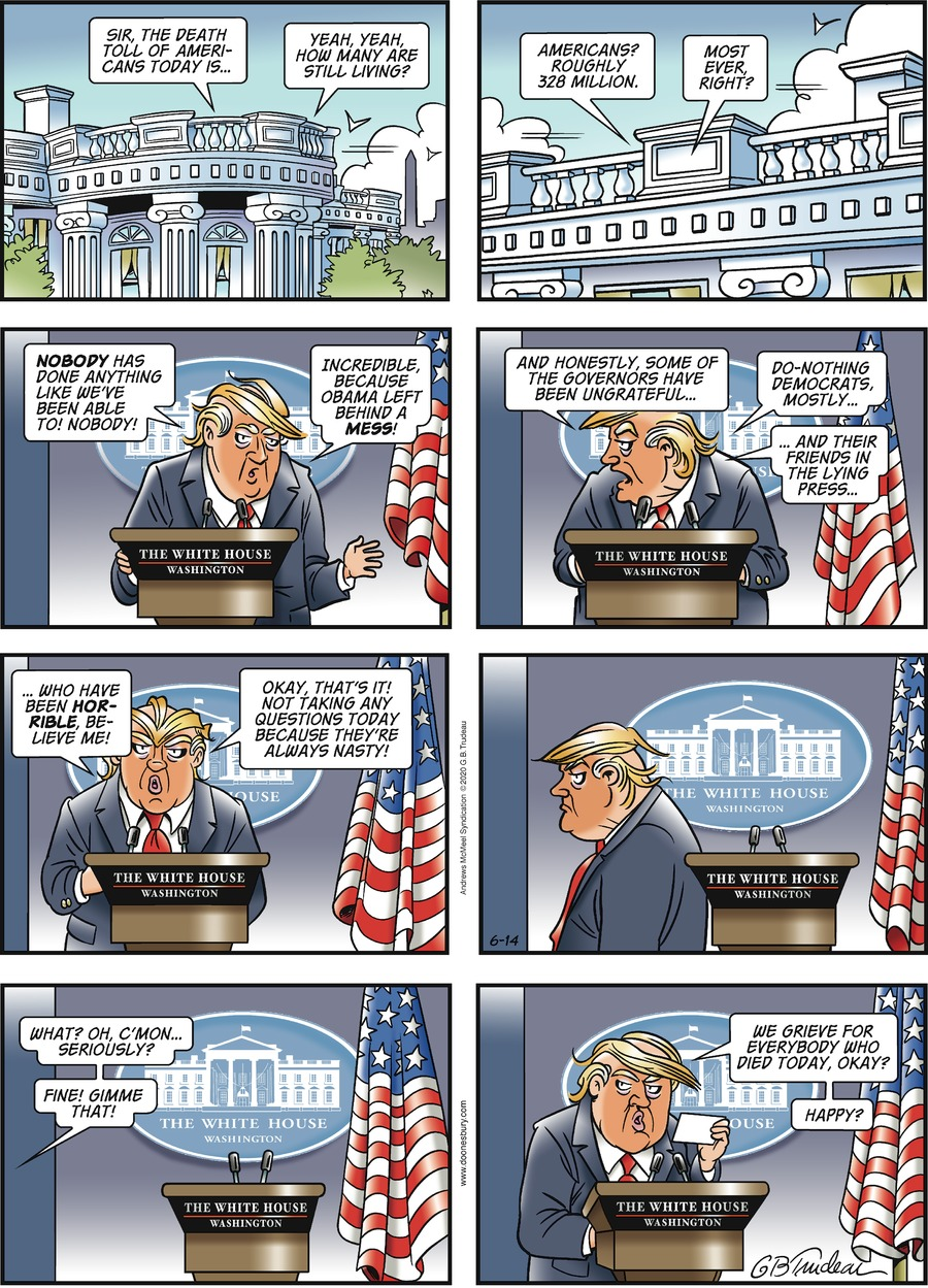 Doonesbury Comic Strip for June 14, 2020