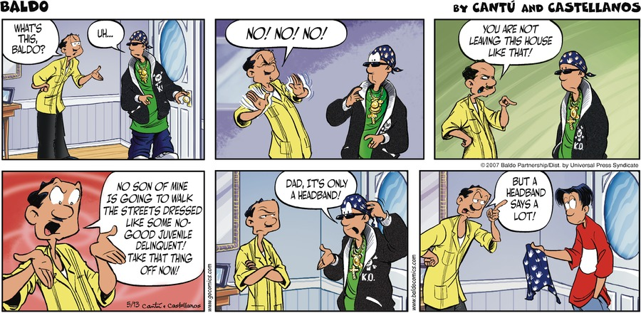 Baldo Comic Strip for May 13, 2007