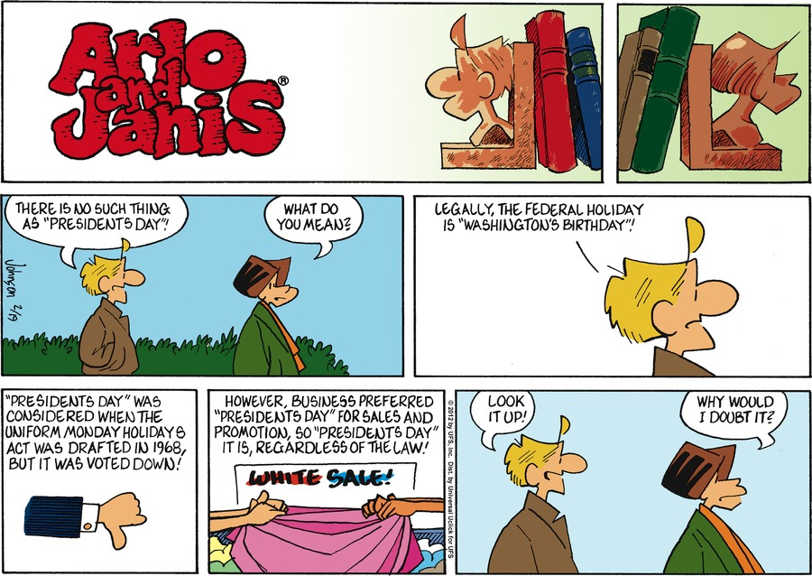 Arlo and Janis for Feb 19, 2012 Comic Strip