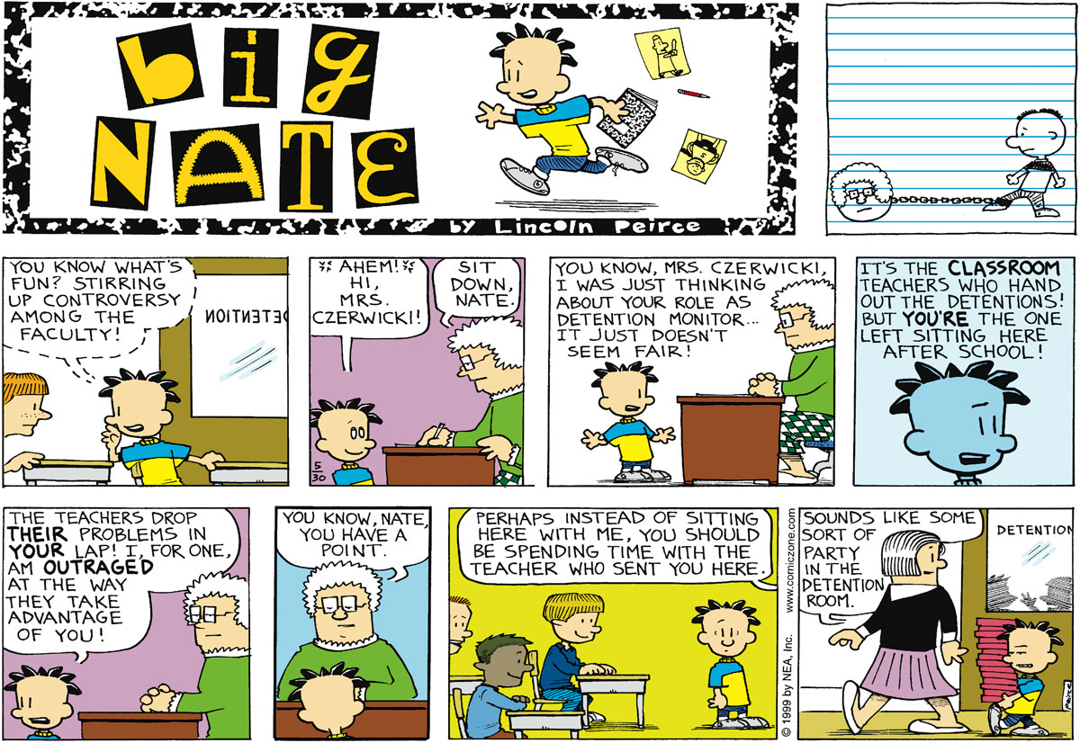 Big Nate Comic Strip for May 30, 1999