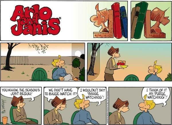 Arlo and Janis - Sunday April 8, 2018 Comic Strip
