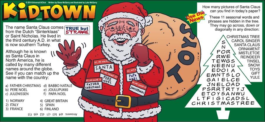KidTown Comic Strip for December 21, 2014