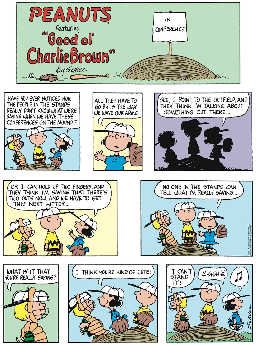 Peanuts by Charles Schulz for April 14, 2019