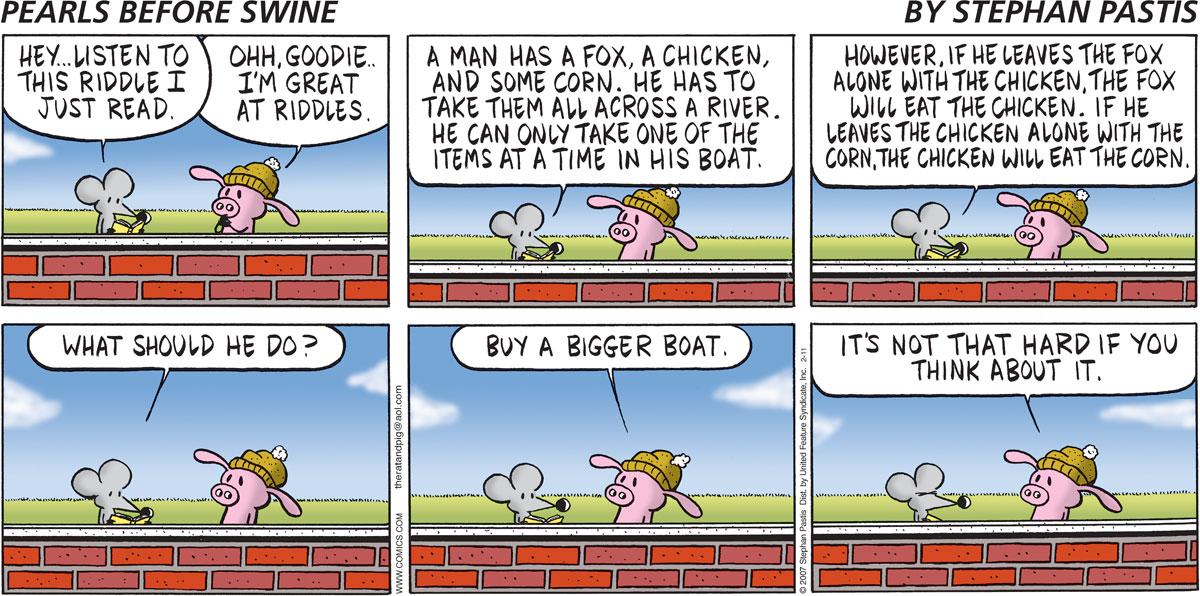 Pearls Before Swine for Feb 11, 2007 Comic Strip