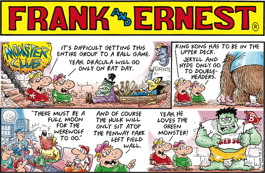 Frank and Ernest Comic Strip for July 08, 2018