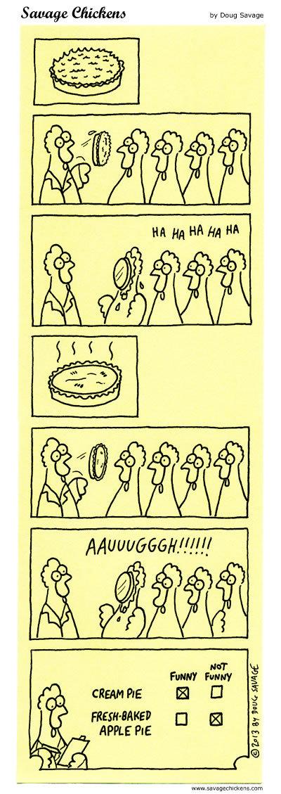 Ha Ha Ha Ha HA   AAUUUUGGH!!!!!!   Cream pie funny not funny   Fresh baked apple pie funny not funny