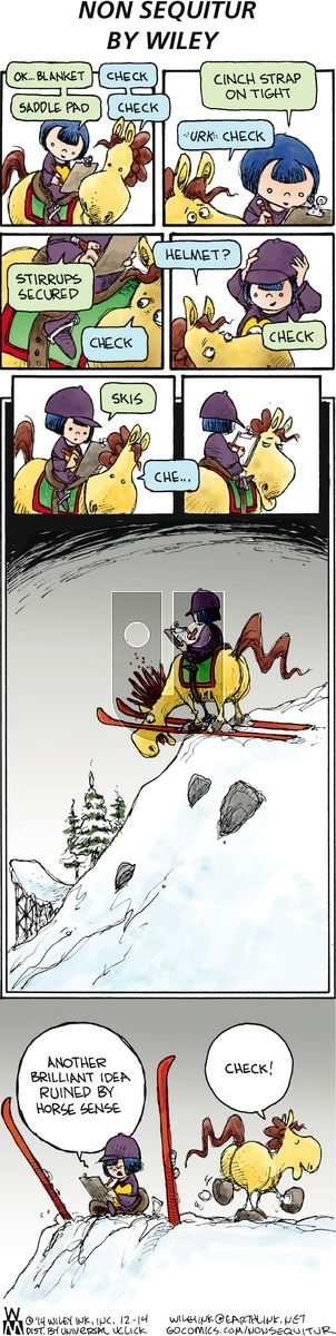 Non Sequitur on Sunday December 14, 2014 Comic Strip