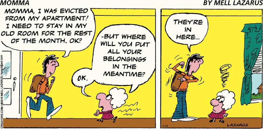 Momma Comic Strip for February 28, 2021