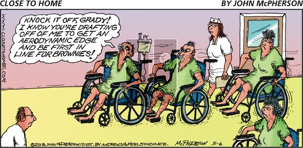 Close to Home on Sunday May 6, 2018 Comic Strip