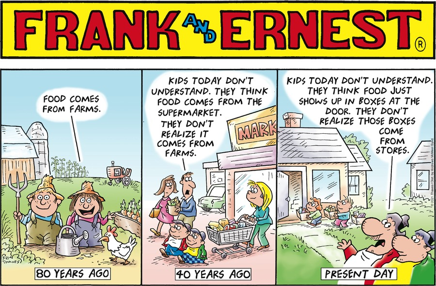 Frank and Ernest Comic Strip for March 21, 2021