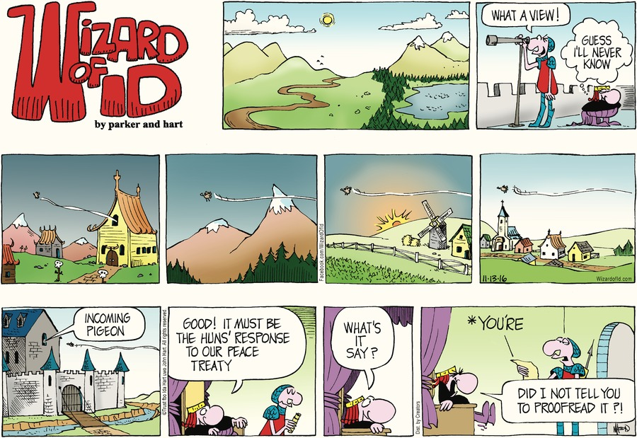 Wizard of Id for Nov 13, 2016 Comic Strip