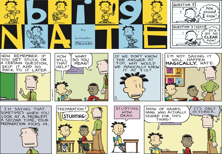 Big Nate by Lincoln Peirce on Sun, 24 Oct 2021