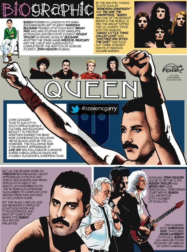 Biographic on Sunday July 13, 2014 Comic Strip
