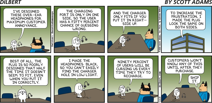 Dogbert Designs Headphones - Dilbert by Scott Adams