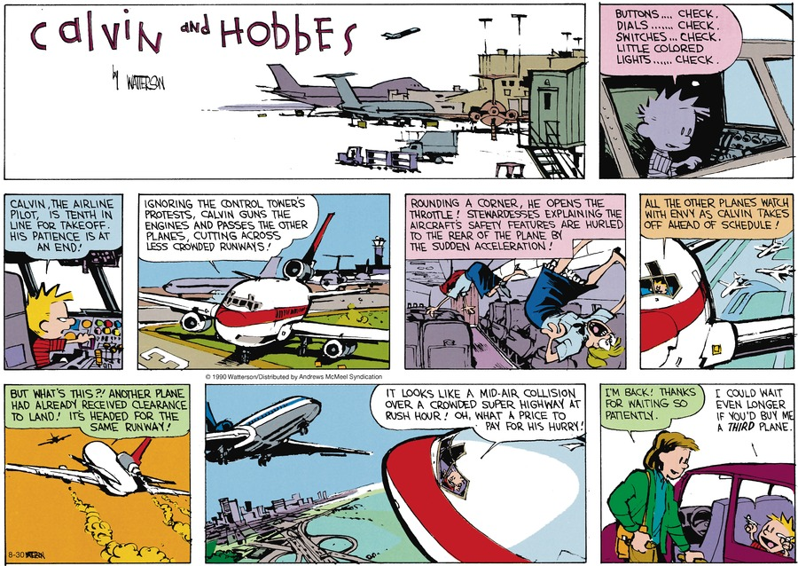 Calvin and Hobbes Comic Strip for August 30, 2020