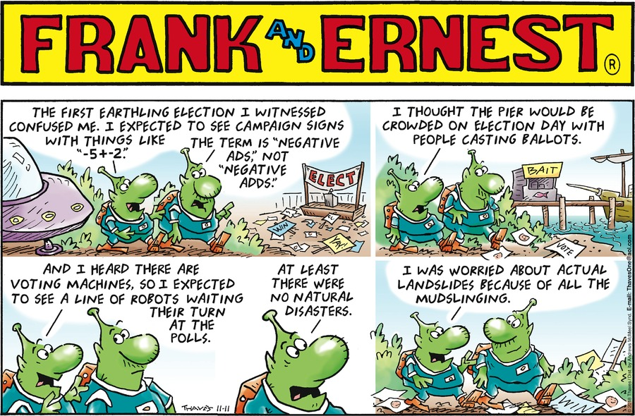 Frank and Ernest Comic Strip for November 11, 2018