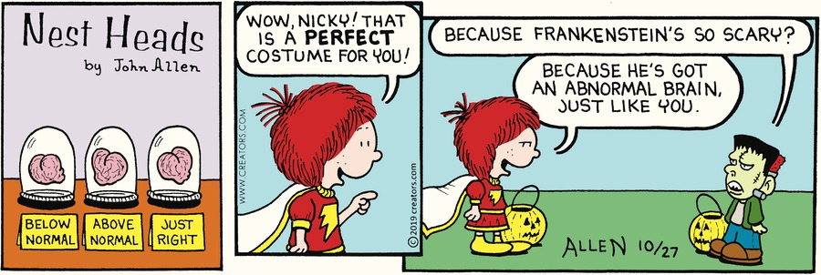 Nest Heads Comic Strip for October 27, 2019