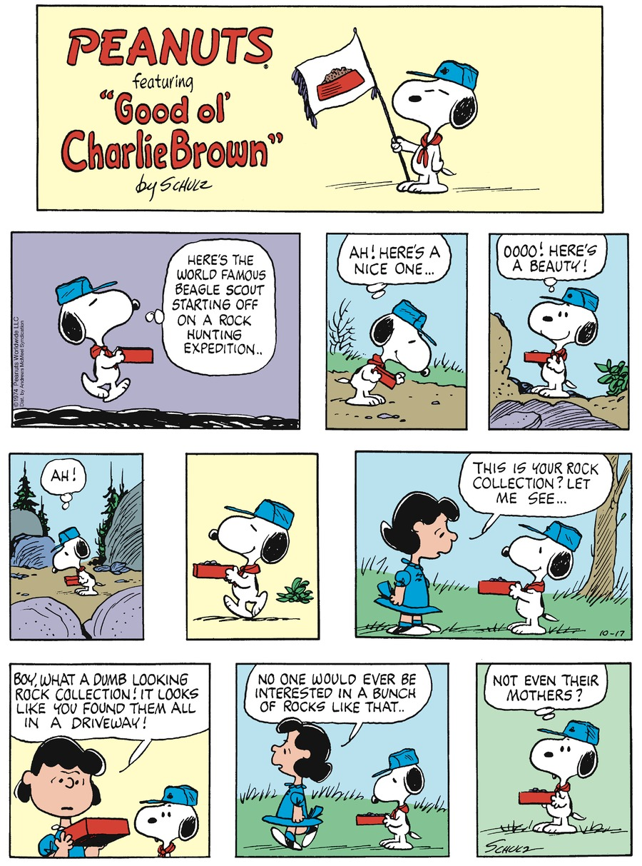 Peanuts by Charles Schulz on Sun, 17 Oct 2021
