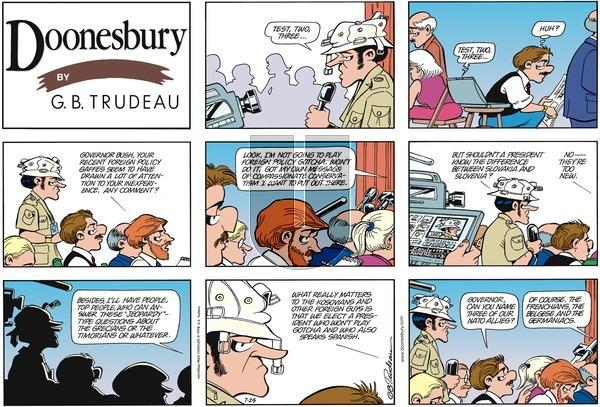 Doonesbury on Sunday July 25, 1999 Comic Strip