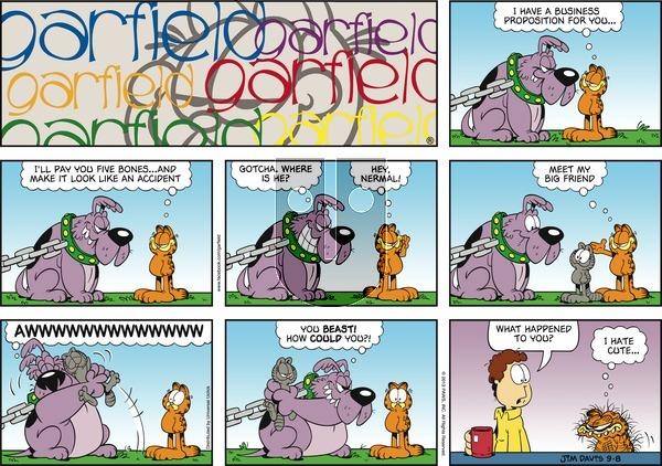 Garfield - Sunday September 8, 2013 Comic Strip