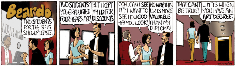 Beardo for Nov 24, 2012 Comic Strip