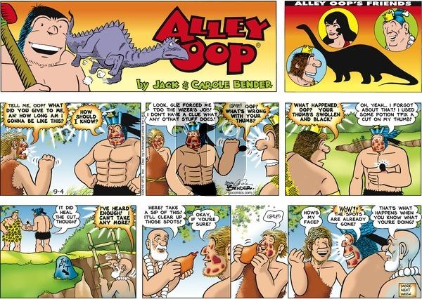 Alley Oop on Sunday September 4, 2016 Comic Strip