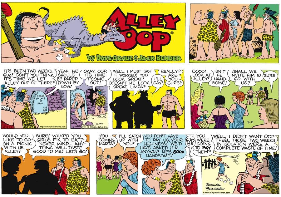 Alley Oop for Sep 8, 1996 Comic Strip