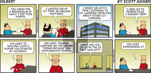 Dilbert on Sunday July 31, 2016 Comic Strip