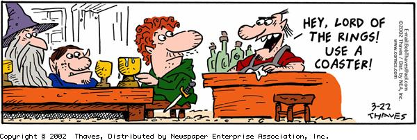 Frank and Ernest Comic Strip for March 22, 2002