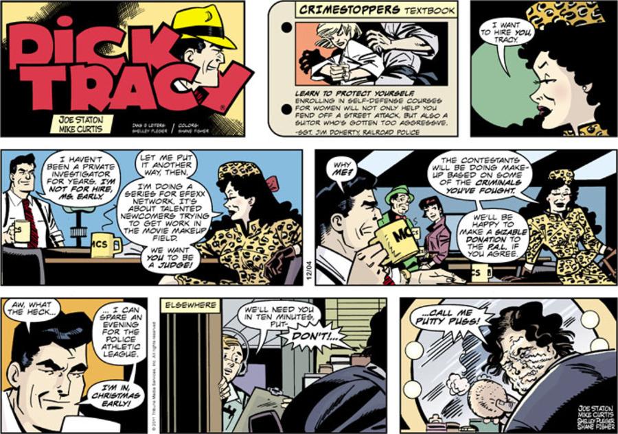 Dick Tracy Comic Strip for December 04, 2011