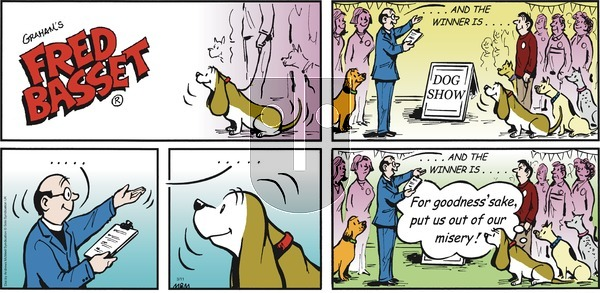 Fred Basset on Sunday March 11, 2018 Comic Strip