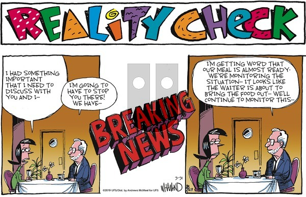Reality Check on Sunday March 31, 2019 Comic Strip