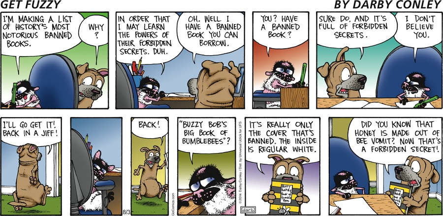 Get Fuzzy for Aug 3, 2014 Comic Strip