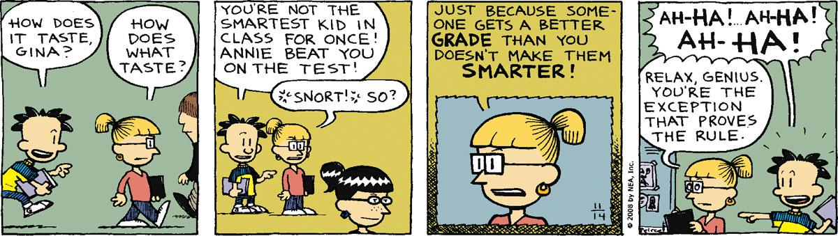 Big Nate Comic Strip for November 14, 2008
