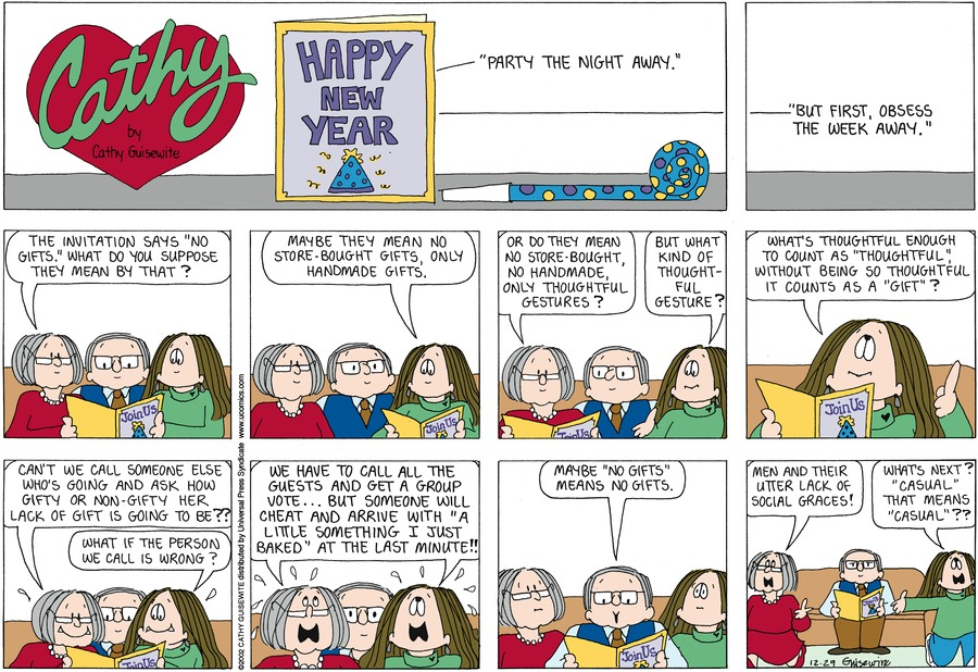 Cathy for Dec 29, 2002 Comic Strip
