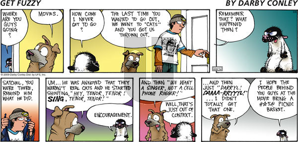 Get Fuzzy on Sunday March 8, 2009 Comic Strip