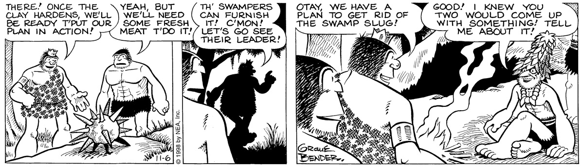 Alley Oop for Nov 6, 1998 Comic Strip