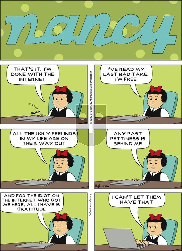 Nancy - Sunday August 23, 2020 Comic Strip