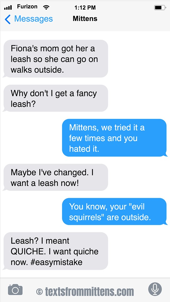 Texts From Mittens Comic Strip for August 25, 2019