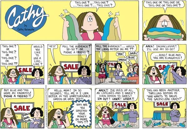 Cathy Classics on Sunday August 28, 2011 Comic Strip